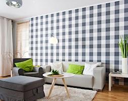 Nowoczesne mieszkanie z barwnymi akcentami - Mały szary salon, styl nowoczesny - zdjęcie od GALERIE VENIS DESIGN STUDIO - Homebook