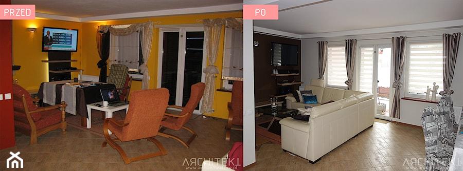 METAMORFOZA KUCHNI I SALONU - zdjęcie od Architekt Anna Maj