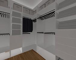 DOM W CHORZOWIE - Mała garderoba, styl nowoczesny - zdjęcie od Architekt Anna Maj