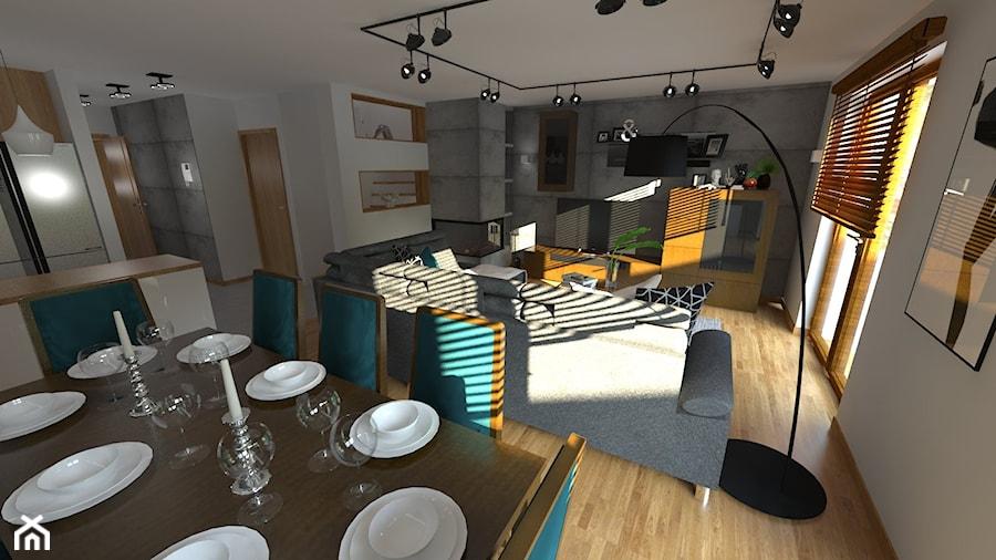 DOM W CHORZOWIE - Salon, styl nowoczesny - zdjęcie od Architekt Anna Maj