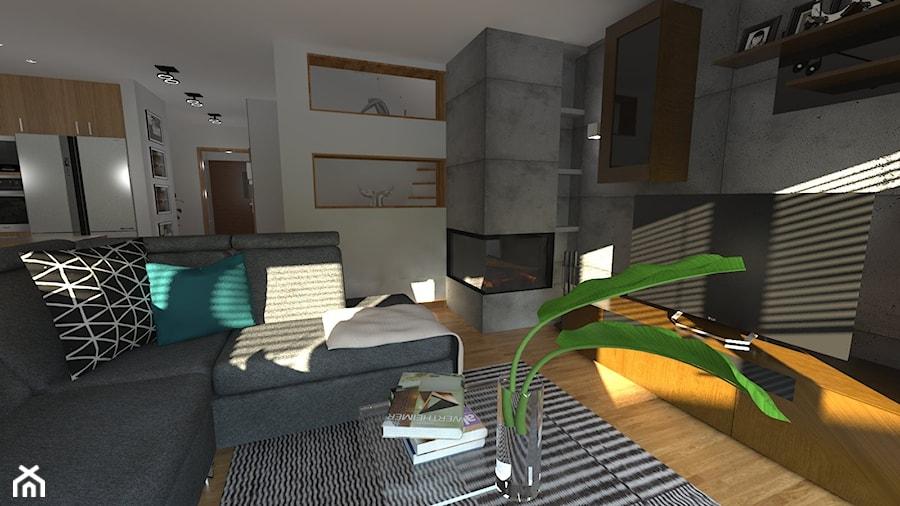 DOM W CHORZOWIE - Mały szary salon, styl nowoczesny - zdjęcie od Architekt Anna Maj