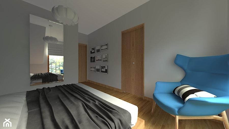 DOM W CHORZOWIE - Średnia szara sypialnia małżeńska, styl nowoczesny - zdjęcie od Architekt Anna Maj