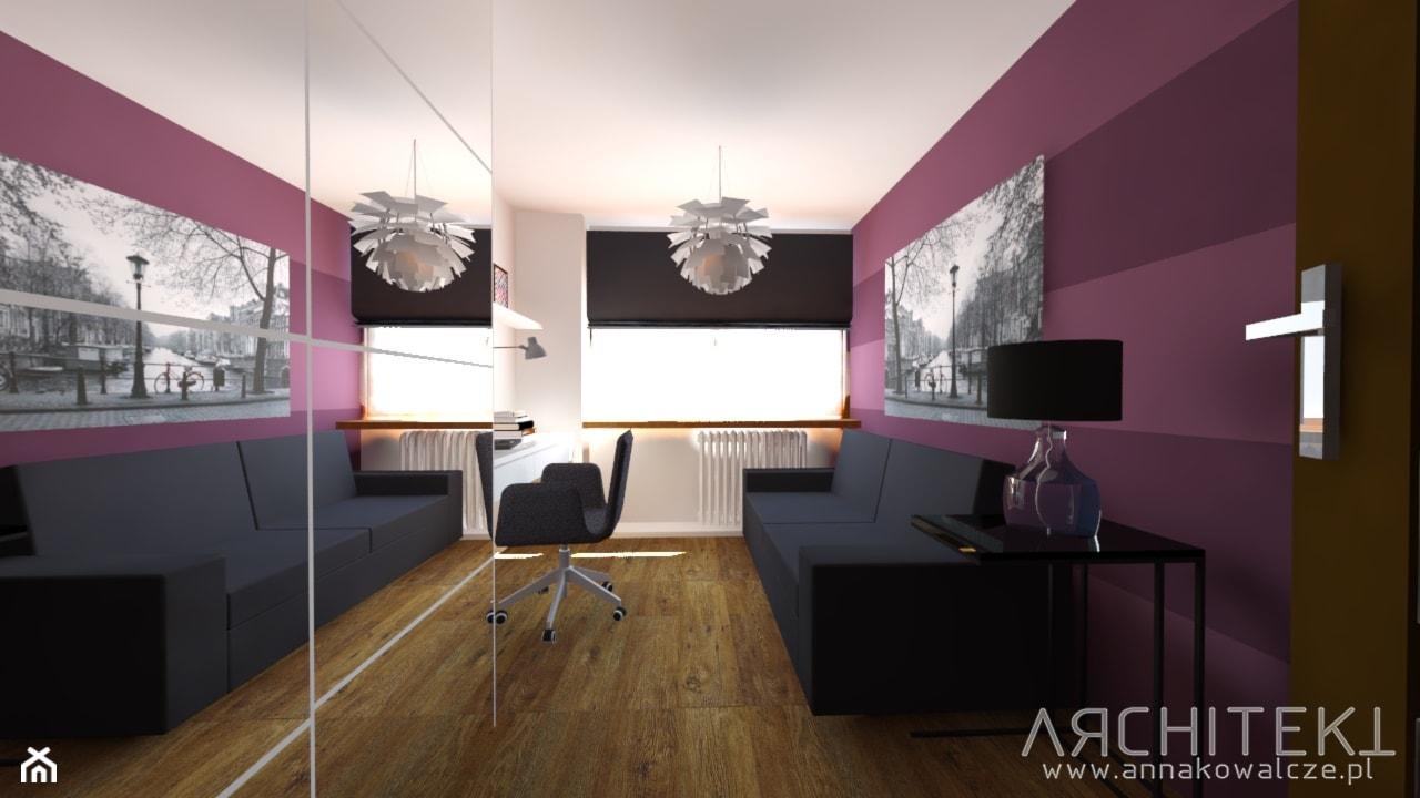 PROMIENNY SALON - Średnia biała sypialnia małżeńska, styl nowoczesny - zdjęcie od Architekt Anna Maj - Homebook