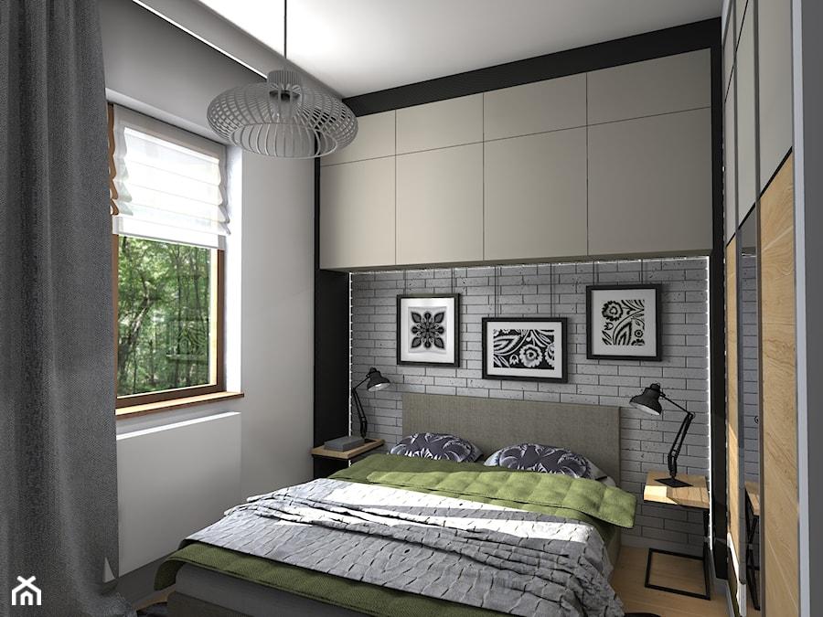 Mieszkanie z ludowym akcentem 60 m2 - Mała sypialnia małżeńska, styl rustykalny - zdjęcie od ...