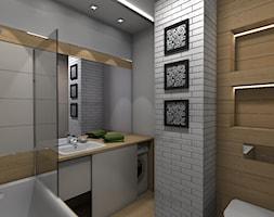 Mieszkanie z ludowym akcentem 60 m2 - Łazienka, styl rustykalny - zdjęcie od CKkwadrat