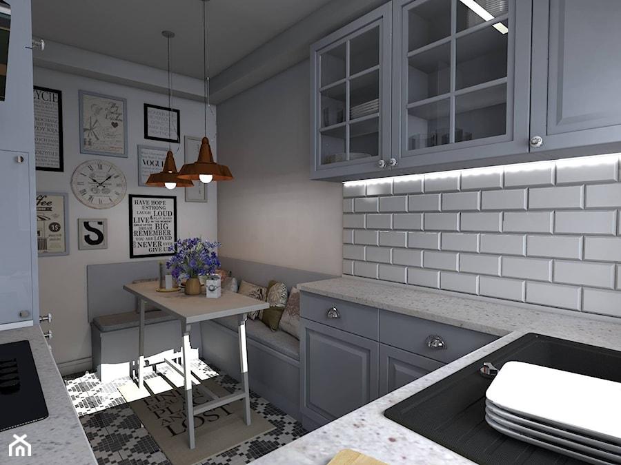 Kuchnia Rustykalna  Średnia zamknięta kuchnia w kształcie litery u, styl rus   # Kuchnia Rustykalna Zdjecia
