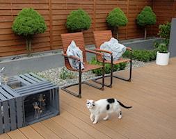 na Słonecznej - Średni taras z tyłu domu, styl nowoczesny - zdjęcie od kamila_lbn - Homebook