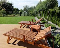 na Słonecznej - Duży ogród za domem z ogródkiem warzywnym, styl nowoczesny - zdjęcie od kamila_lbn