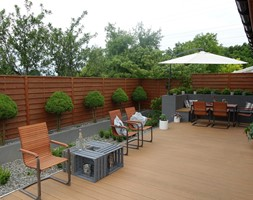 na Słonecznej - Duży taras z tyłu domu, styl nowoczesny - zdjęcie od kamila_lbn - Homebook