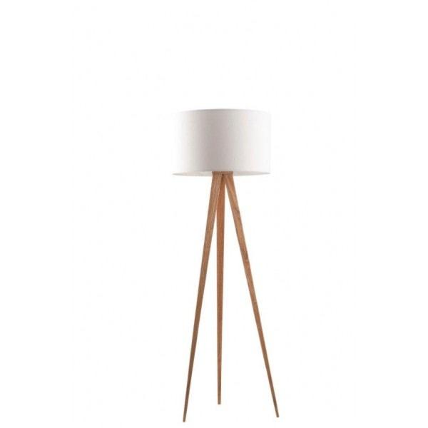 Lampa Podłogowa Tripod Wood Zuiver Zdjęcie Od Pufa Design Homebook