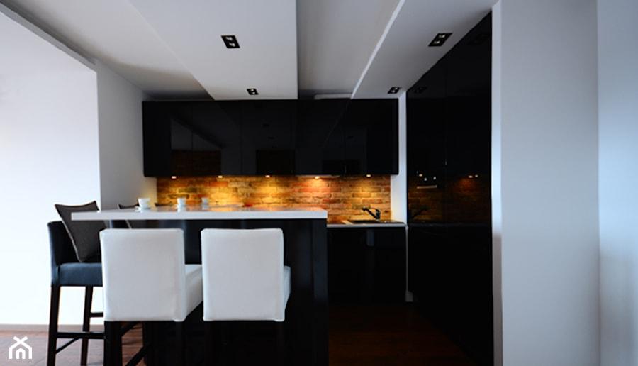 czarna kuchnia  mdf lakierowany  zdjęcie od Fabryka   # Kuchnia Lakierowana Mdf