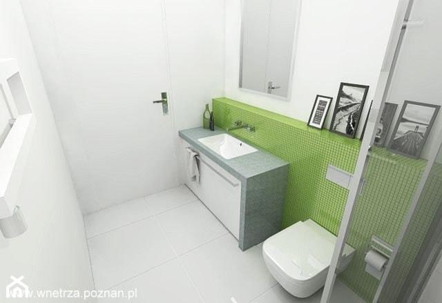 łazienka Z Zieloną Mozaiką 2 Wersje Projektu łazienka
