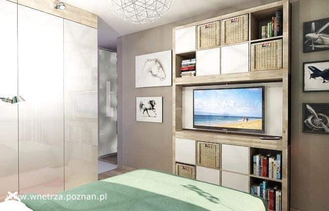 Pokój Dzienny I Sypialnia Salon Styl Nowoczesny Zdjęcie