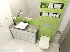 Łazienka z zieloną mozaiką (2 wersje projektu)