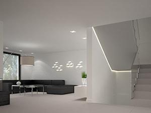 Dom w stylu Bauhaus - Niemcy - Średnie szerokie schody dwubiegowe betonowe, styl minimalistyczny - zdjęcie od Kameleon - Kreatywne Studio Projektowania Wnętrz