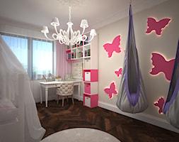 dom Drawsko Pomorskie - Średni szary pokój dziecka dla dziewczynki dla malucha, styl nowoczesny - zdjęcie od Kameleon - Kreatywne Studio Projektowania Wnętrz