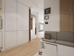 Mieszkanie Bemowo - Średni biały beżowy hol / przedpokój, styl nowoczesny - zdjęcie od Kameleon - Kreatywne Studio Projektowania Wnętrz