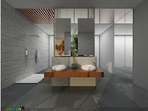 salon kąpielowy - betonowy