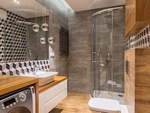 Średnia szara łazienka w domu jednorodzinnym bez okna, styl nowoczesny - zdjęcie od Kameleon - Kreatywne Studio Projektowania Wnętrz