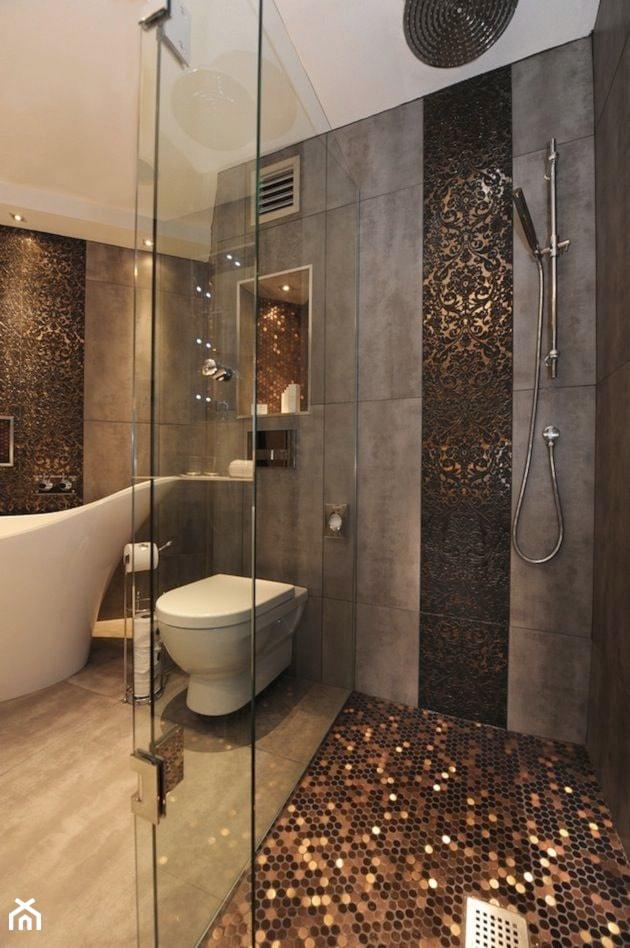 Ciemna strona łazienki - wersja tylko dla odważnych? - Duża szara łazienka - zdjęcie od MartaWieclawDesign - Homebook