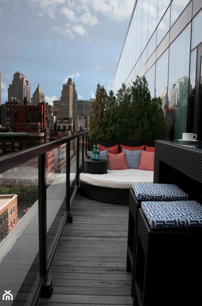 Jak urządzić balkon? - ciekawe pomysły na aranżację przestrzeni balkonowych - Średni taras, styl nowoczesny - zdjęcie od MartaWieclawDesign - Homebook