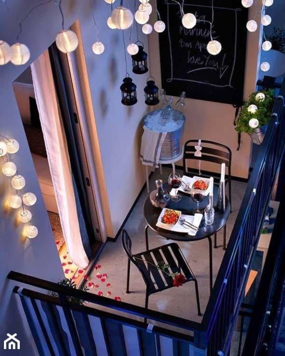 Jak urządzić balkon? - ciekawe pomysły na aranżację przestrzeni balkonowych - Mały taras z tyłu domu - zdjęcie od MartaWieclawDesign - Homebook