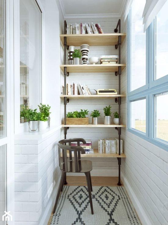 Jak urządzić balkon? - ciekawe pomysły na aranżację przestrzeni balkonowych - Mały taras, styl skandynawski - zdjęcie od MartaWieclawDesign - Homebook