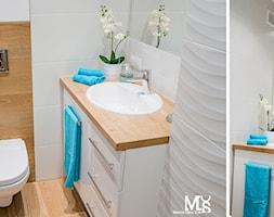 Metamorfoza łazienki - Mała łazienka - zdjęcie od BlueCat Studio
