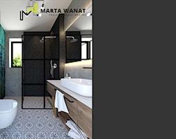 Dom w stylu loft - Średnia łazienka w bloku w domu jednorodzinnym z oknem, styl industrialny - zdjęcie od Marta Wanat Projektowanie wnętrz