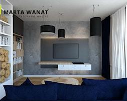 Dom w stylu loft - Średni szary salon, styl rustykalny - zdjęcie od Marta Wanat Projektowanie wnętrz
