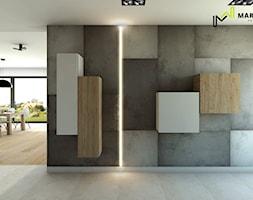 Luksemburg _ dom 300m2 -poziom I - Średni biały hol / przedpokój, styl minimalistyczny - zdjęcie od Marta Wanat Projektowanie wnętrz