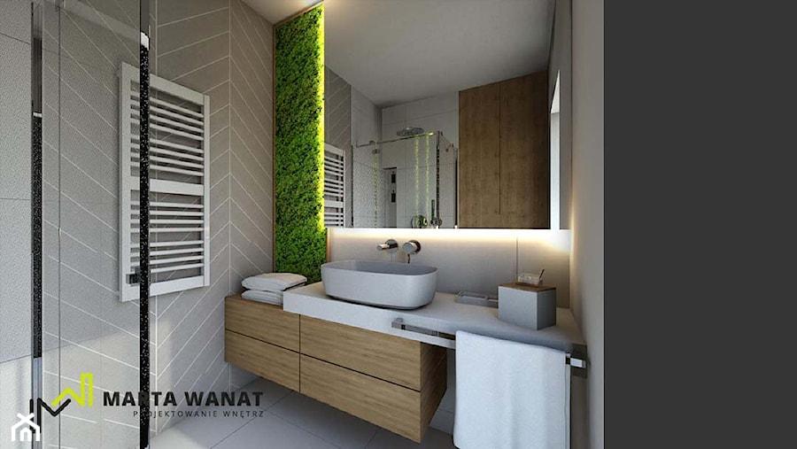Dom w stylu górskim - Średnia szara łazienka w bloku w domu jednorodzinnym z oknem, styl vintage - zdjęcie od Marta Wanat Projektowanie wnętrz
