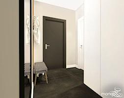 """CICHA PRZYSTAŃ W BEŻACH I POPIELACH - dom 170m2 - Średni szary hol / przedpokój, styl nowoczesny - zdjęcie od MANGO STUDIO - projekty wnętrz & wykonawstwo """"POD KLUCZ"""" - ZASTĘPSTWO INWESTORSKIE - projekty wnętrz HoReCa - konsultacje - Homebook"""
