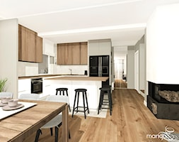 """CICHA PRZYSTAŃ W BEŻACH I POPIELACH - dom 170m2 - Kuchnia, styl nowoczesny - zdjęcie od MANGO STUDIO - projekty wnętrz & wykonawstwo """"POD KLUCZ"""" - ZASTĘPSTWO INWESTORSKIE - projekty wnętrz HoReCa - konsultacje - Homebook"""