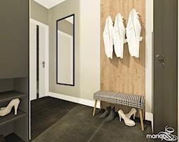 """CICHA PRZYSTAŃ W BEŻACH I POPIELACH - dom 170m2 - Hol / przedpokój, styl nowoczesny - zdjęcie od MANGO STUDIO - projekty wnętrz & wykonawstwo """"POD KLUCZ"""" - ZASTĘPSTWO INWESTORSKIE - projekty wnętrz HoReCa - konsultacje - Homebook"""