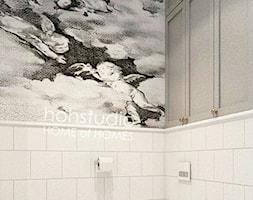Piękna Praga - Mała biała szara łazienka w bloku w domu jednorodzinnym bez okna, styl klasyczny - zdjęcie od HoH studio - Homebook
