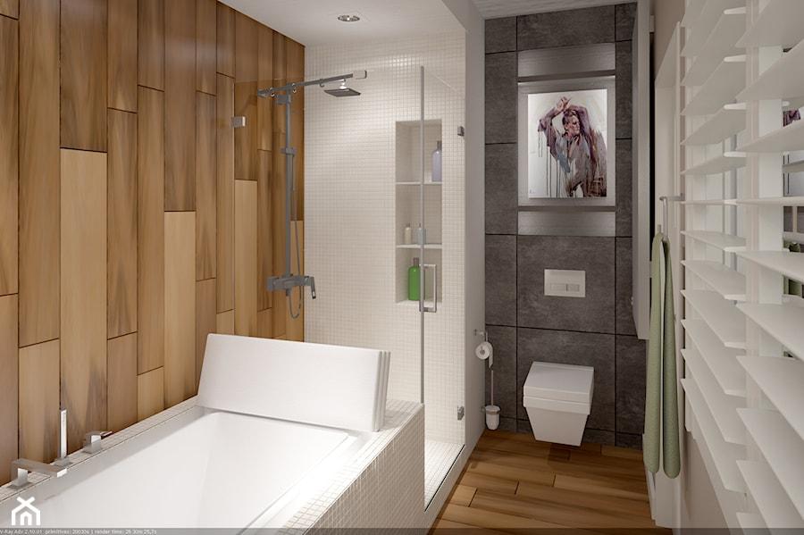 Projekt łazienki w apartamencie Concept House Mokotów - zdjęcie od Projekt Dwa Kwadrat - homebook