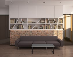 Projekt mieszkania w 19 Dzielnicy w Warszawie - Salon, styl nowoczesny - zdjęcie od Projekt Dwa Kwadrat - Homebook