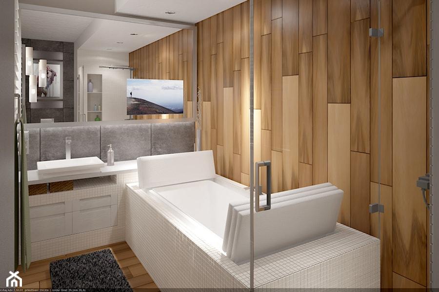 Projekt łazienki W Apartamencie Concept House Mokotów