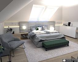 Sypialnia na poddaszu - Sypialnia, styl nowoczesny - zdjęcie od Pracownia Projektowa ALEKSANDRA JARCO - Homebook