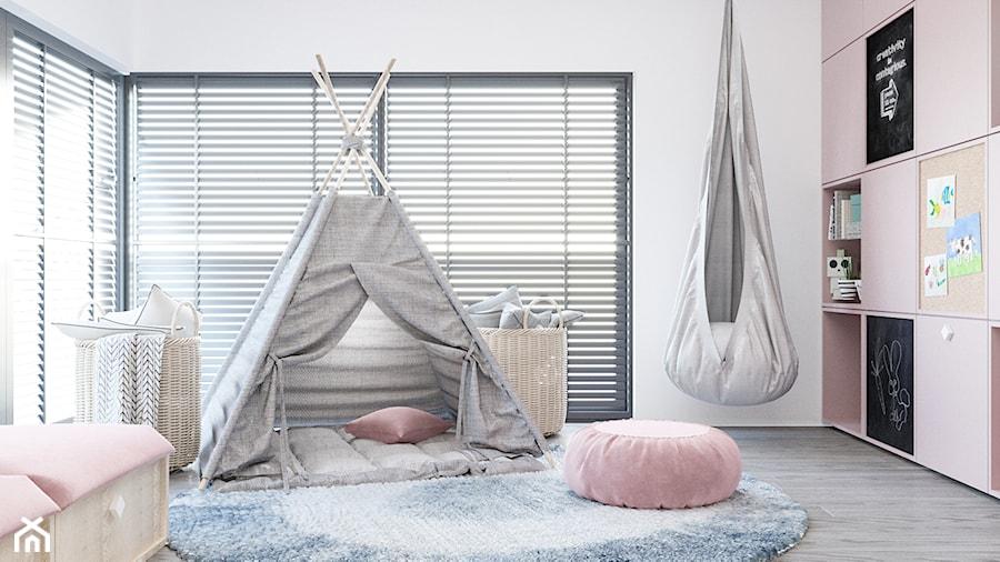DOM / MSZCZONÓW - Średni szary pokój dziecka dla dziewczynki dla malucha, styl nowoczesny - zdjęcie od ZEN Interiors
