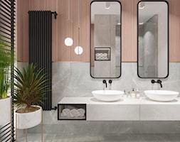 DOM / MAGDALENKA - Duża łazienka w bloku w domu jednorodzinnym z oknem, styl nowoczesny - zdjęcie od ZEN Interiors