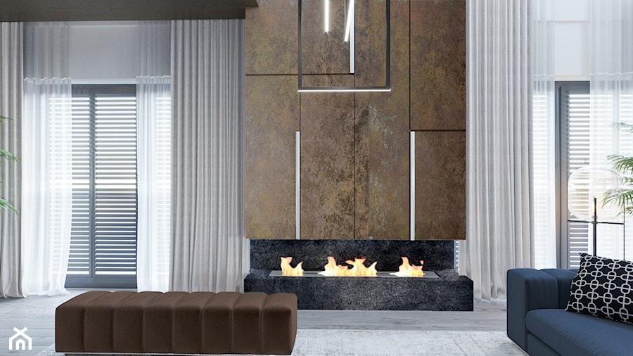 DOM / MSZCZONÓW - Średni biały salon, styl nowoczesny - zdjęcie od ZEN Interiors