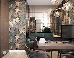 METAMORFOZA / WYSZKÓW - Średnie brązowe kolorowe biuro domowe w pokoju, styl glamour - zdjęcie od ZEN Interiors