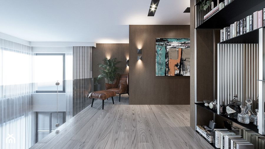 DOM / MSZCZONÓW - Duży biały hol / przedpokój, styl nowoczesny - zdjęcie od ZEN Interiors