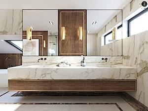 ZEN | Elegancki dom - Średnia biała łazienka na poddaszu w bloku w domu jednorodzinnym z oknem, styl nowoczesny - zdjęcie od ZEN Interiors
