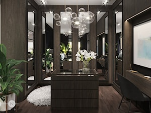 APARTAMENT / PRZEMYŚL - Duża garderoba z oknem, styl glamour - zdjęcie od ZEN Interiors