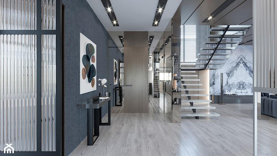 DOM / MSZCZONÓW - Duży szary hol / przedpokój, styl nowoczesny - zdjęcie od ZEN Interiors