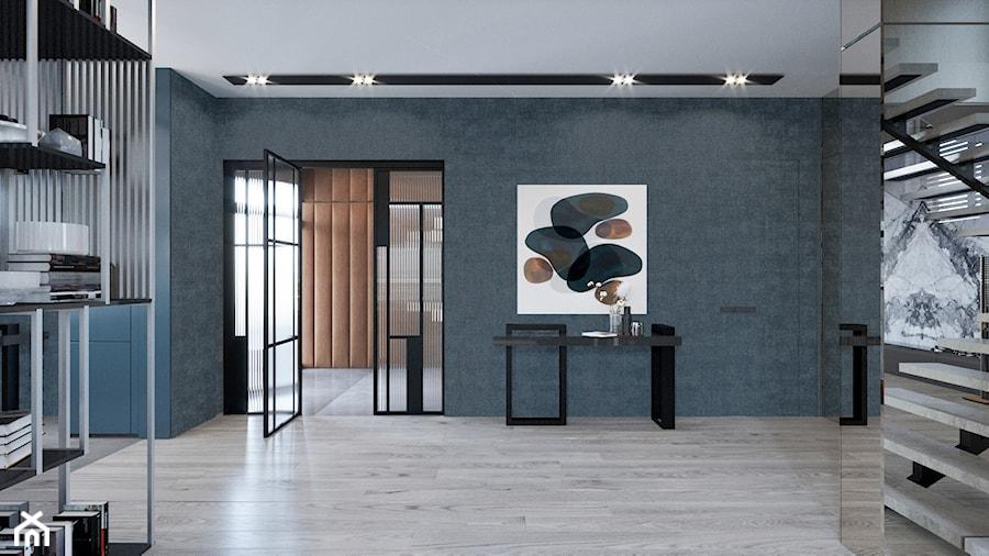 DOM / MSZCZONÓW - Duży czarny hol / przedpokój, styl nowoczesny - zdjęcie od ZEN Interiors