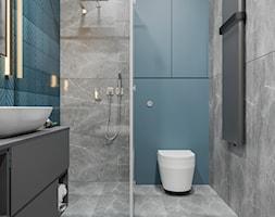 DOM / MSZCZONÓW - Średnia niebieska łazienka w bloku w domu jednorodzinnym bez okna, styl nowoczesny - zdjęcie od ZEN Interiors - Homebook